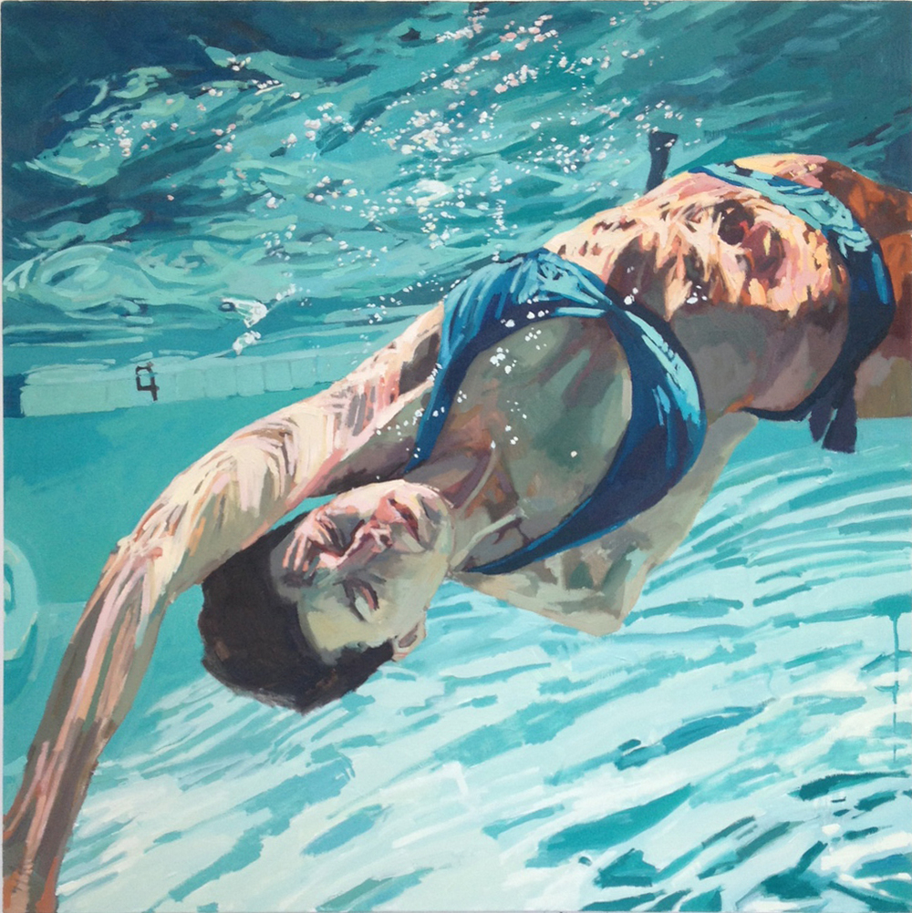 "Twist Let Go, 48"" x 48"", by Samantha French"