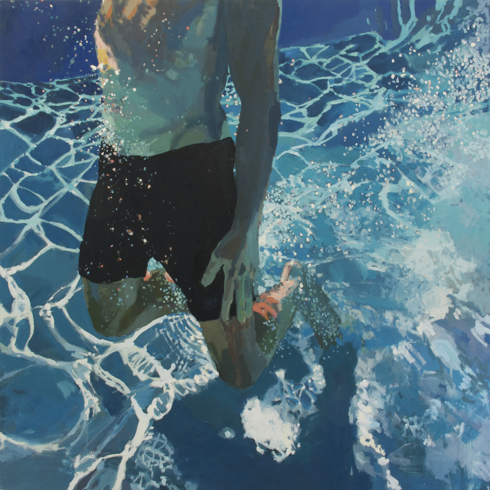 "Up From Below, 48"" x 48"" by Samantha French"