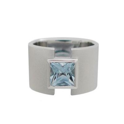 Aqua and Platinum ring