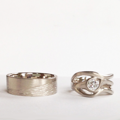 Finished wedding rings. www.EverlingJewelry.com