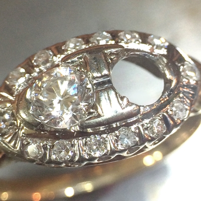 Antique ring in need of restoration.