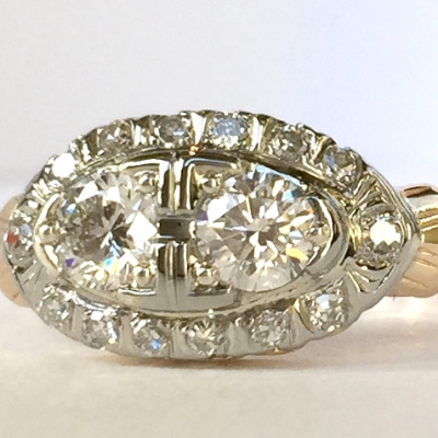 Restored antique ring. www.EverlingJewelry.com