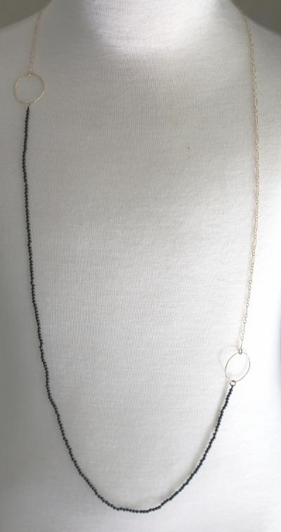 Onyx Apogee Necklace: $885.00