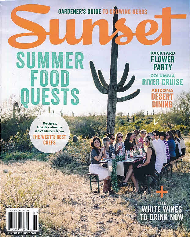June issue of Sunset Magazine
