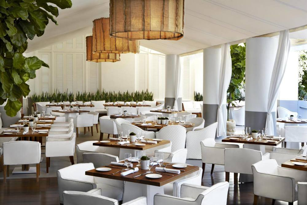 Al fresco dining at Delano Hotel's Bianca.  Photo courtesy of Morgans Hotel Group.