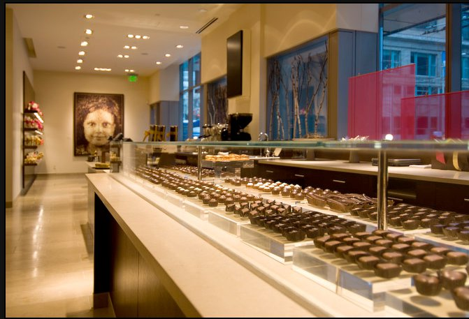 Interior of Fran's Chocolates in Downtown Seattle. Photo by Fran's Chocolates.
