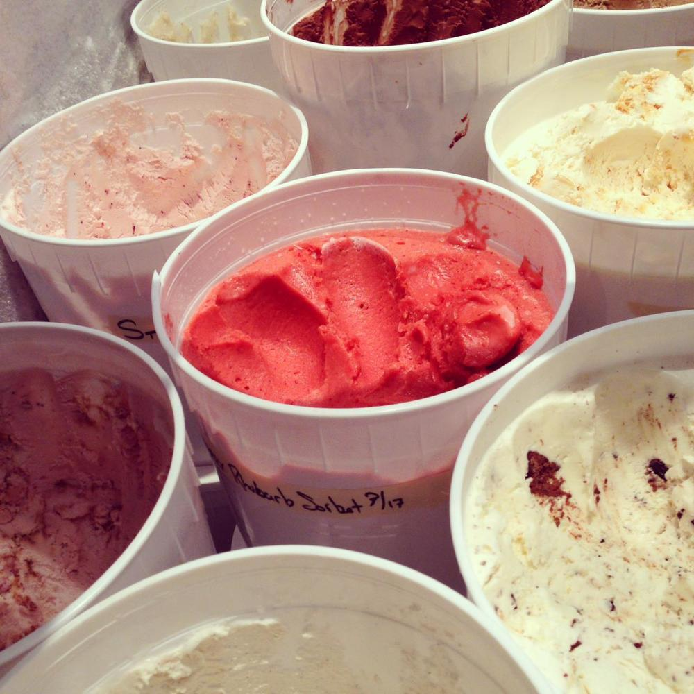 Sampling of Molly Moon's ice cream and sorbet.  Photo by Molly Moon's Homemade Ice Cream.