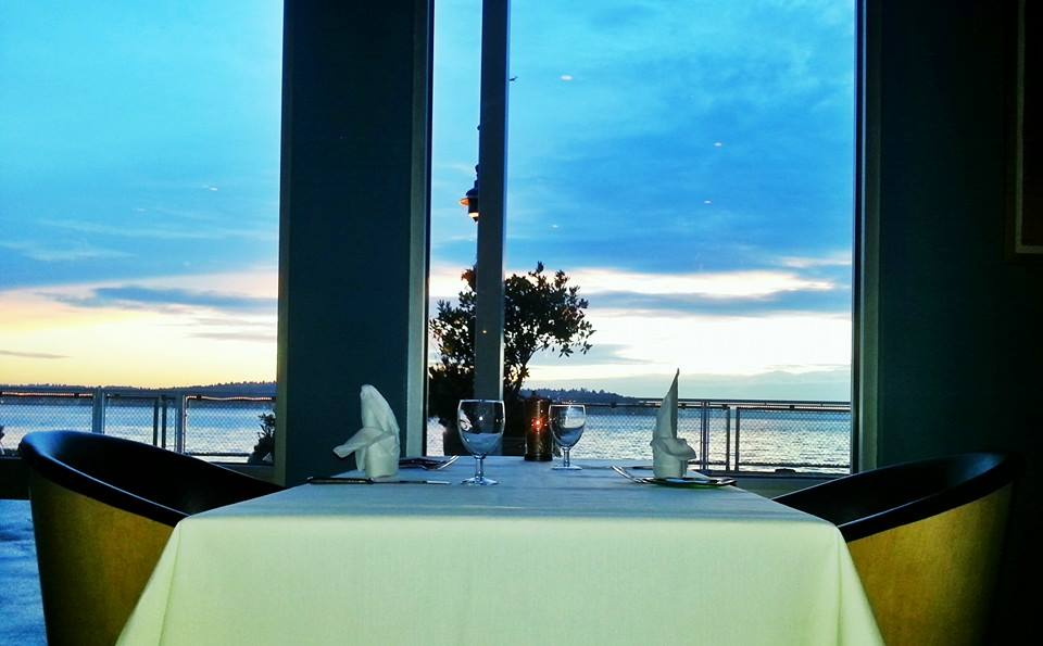 Gorgeous view of Elliott Bay at AQUA.  Photo by AQUA by El Gaucho.