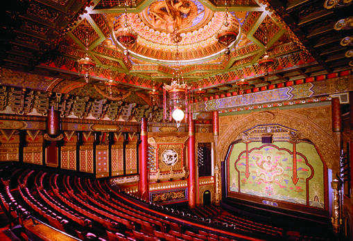 The interior of the 5th Avenue Theatre was modeled to reproduce features of Beijing landmarks.  Photo by 5th Avenue Theatre.