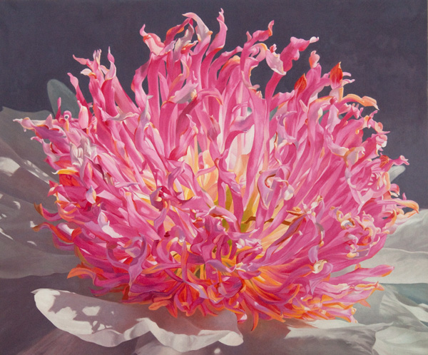 "Dale's Peony  |  2011  |  oil on linen  |  40"" x 48"""