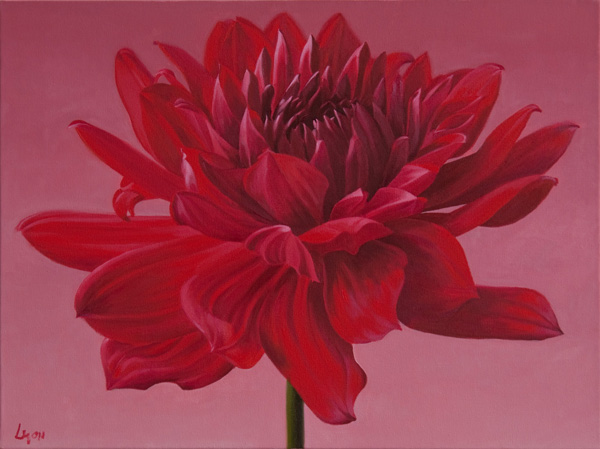 "Too Red | 2011 | oil on linen| 32"" x 40"""