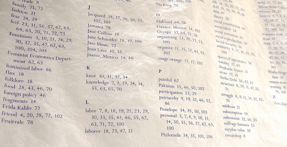 Detail of index