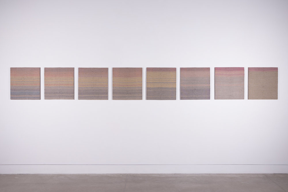 - Installation of Fissures 1-8 at 108 Contemporary, Tulsa, OK 2018, each 19.5
