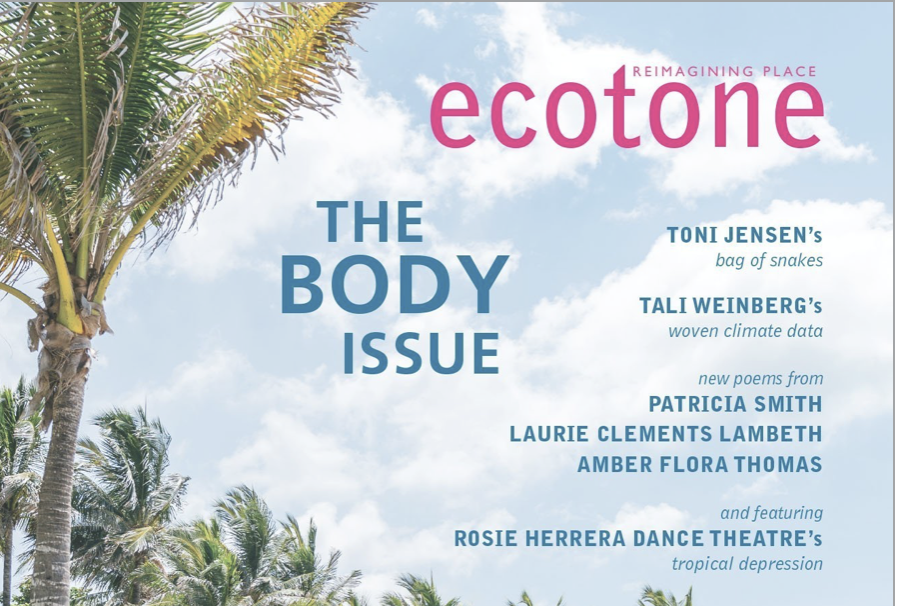 Bound is featured in The Body Issue of the literary magazine Ecotone. Additional photos and an essay about the project are accessible online through Ecotone's website. Special thanks to editor Anna Lena Phillips Bell for inviting me to contribute. I am honored to have work included amidst so much beautiful writing. -