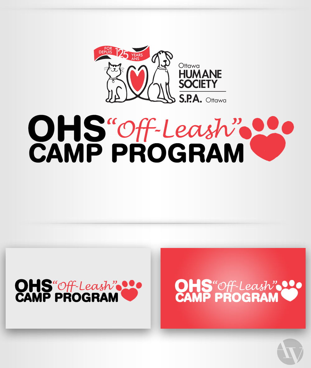 "Ottawa Humane Society ""Off-Leash"" Program Logo"