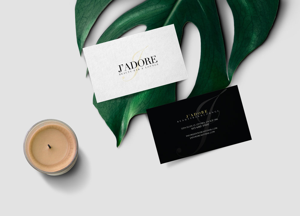 J'adore Beauty Bar Business Card Design