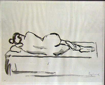 Nude Reclining on Left Side