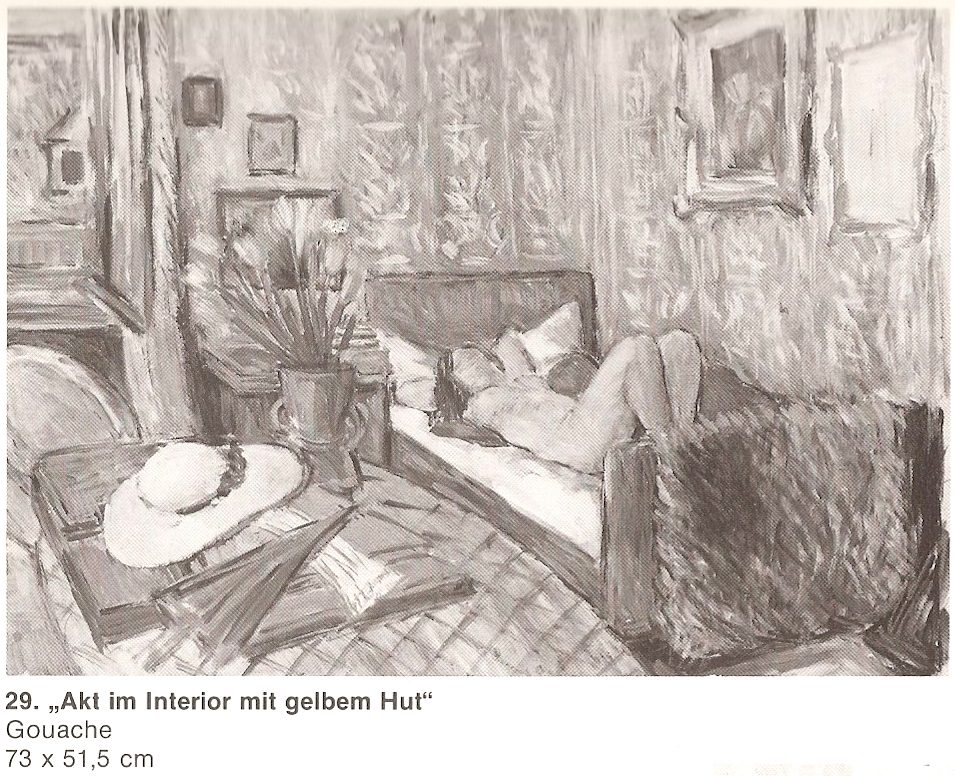 Nude in Interior with Yellow Hat