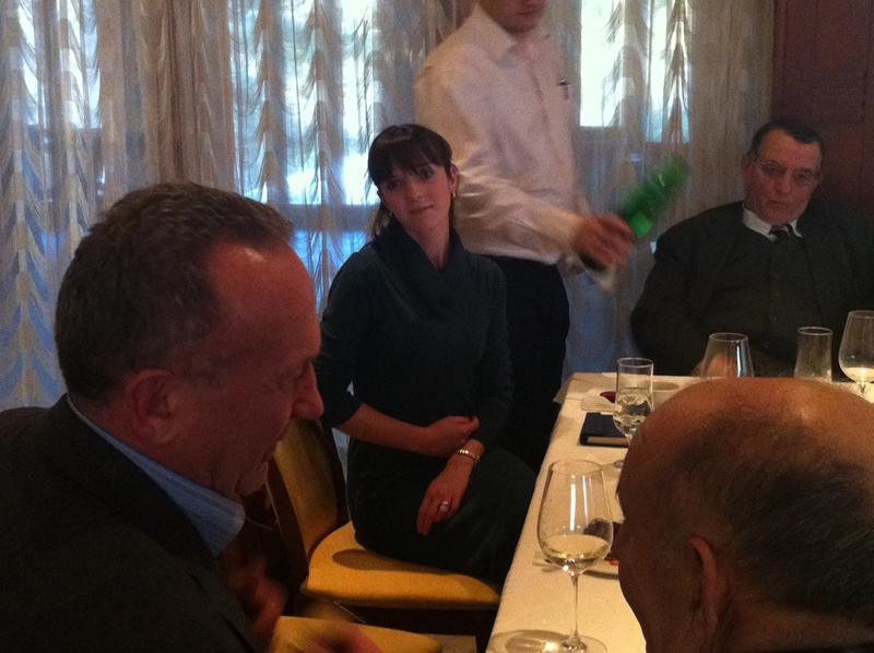 Mayor Vuković in conversation with Bosko Pauković; our lovely translator; and Ratko Raković