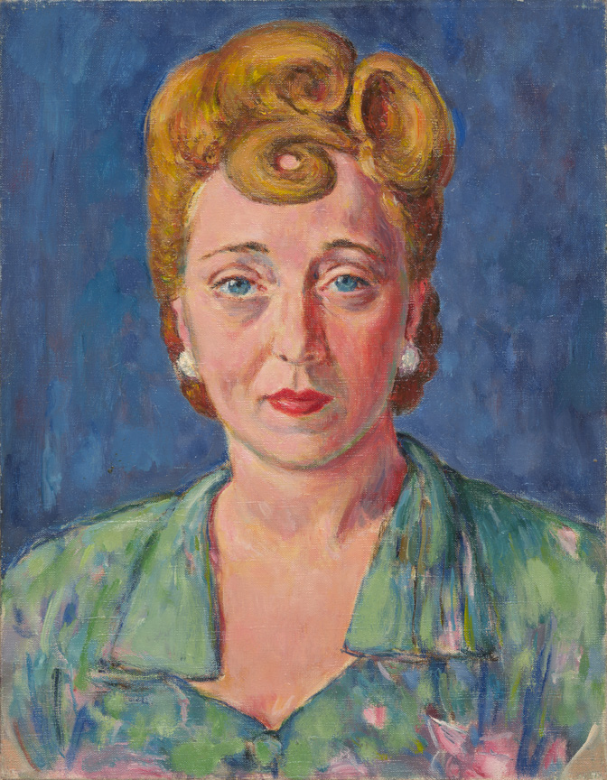 Portrait of Dorothy Morrill, Oil on Canvas, c. 1955