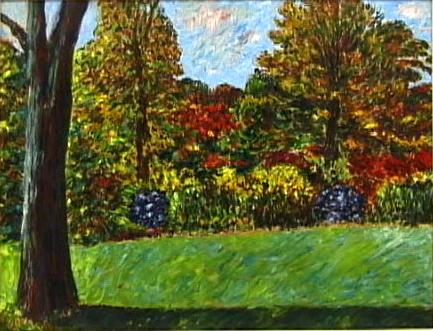 Connecticut Landscape,Oil on Canvas, c. 1945