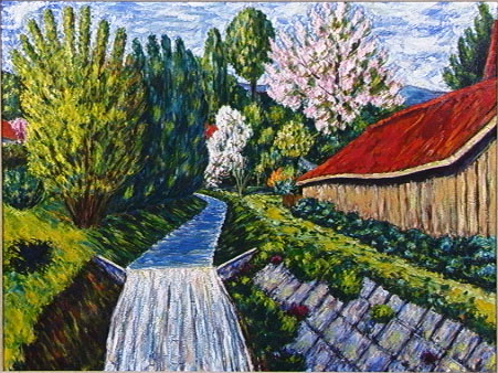 The Millstream,Oil on Canvas, c. 1940, 24 x 32 in