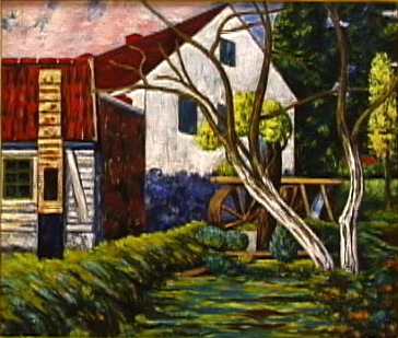 The Mill,Oil on Canvas, c. 1940