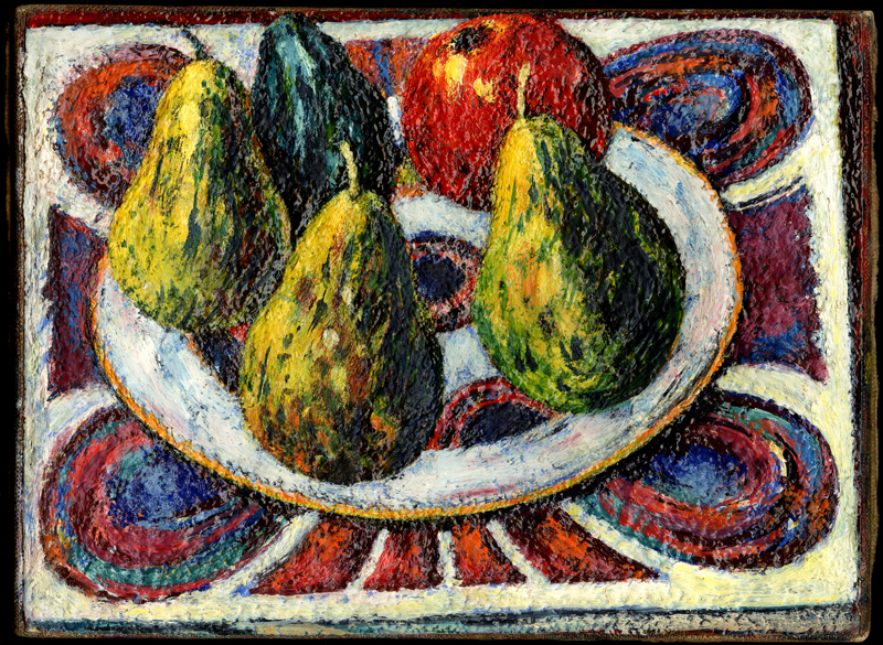 Avocados and Pears on Tapestry