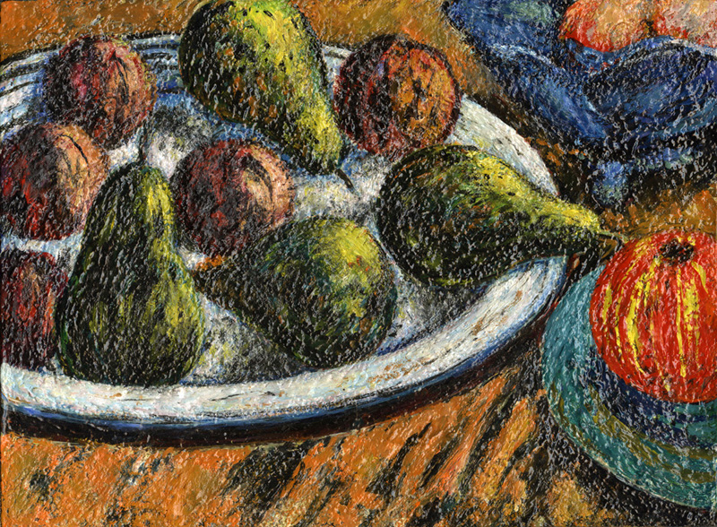 Pears and Plums on Platter