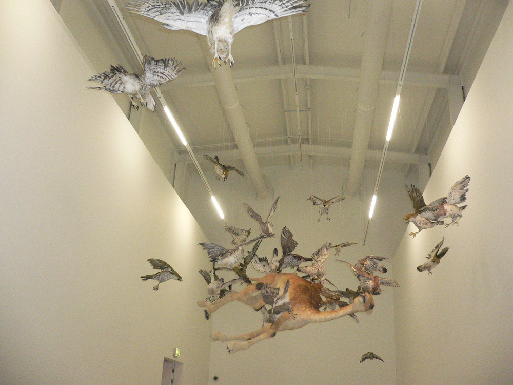 Installation view of Cai Guo-Qiang: Saraab. © Lucy Rees