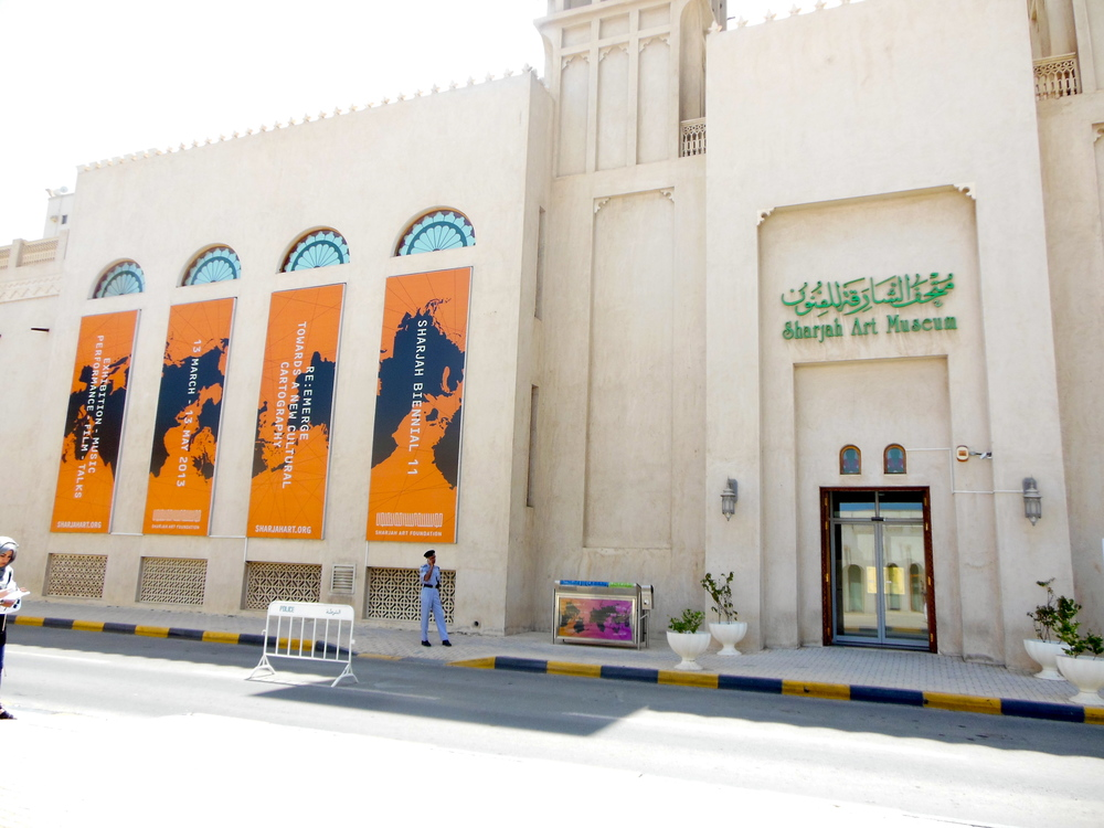 External View of the Sharjah Art Museum. Photo: Lucy Rees.