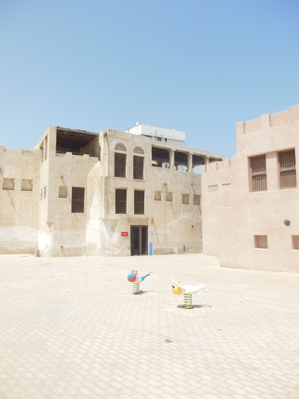 Courtyard in Sharjah Heritage Area. Photo: Lucy Rees