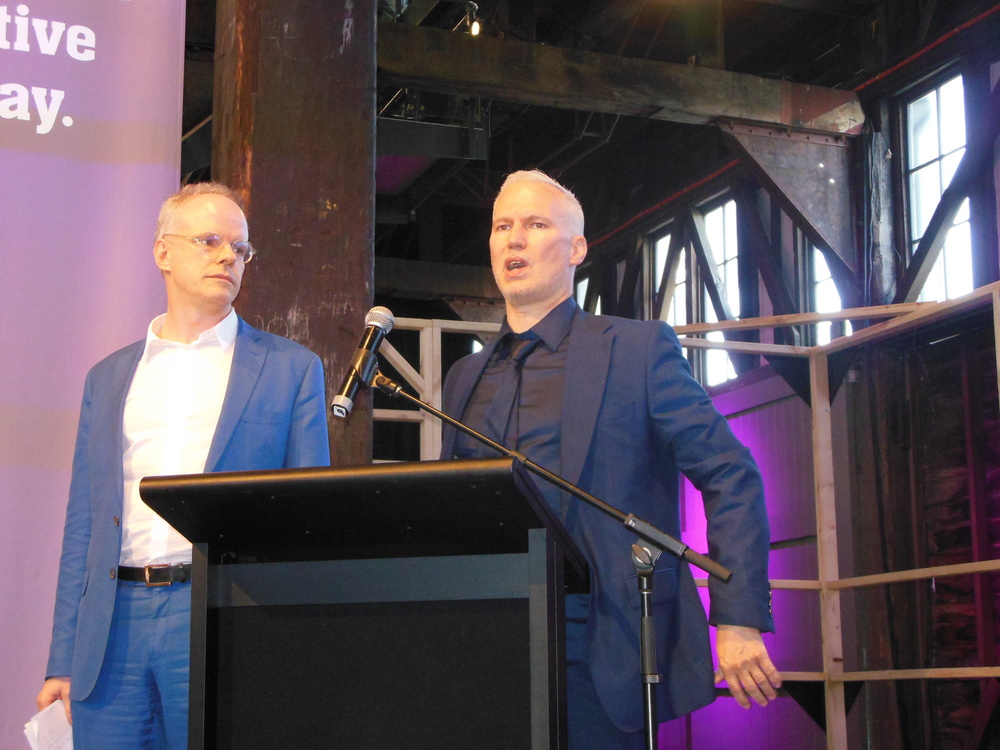 Hans Ulrich Obrist and Klaus Biesenbach in Sydney. Photo: Lucy Rees