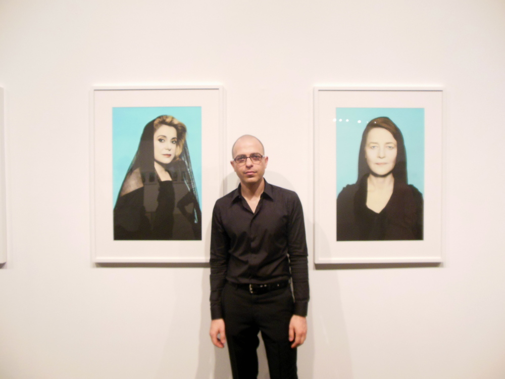 Youssef Nabil (b.1972) pictured at the opening of his exhibition, Third Line Gallery, Dubai. Photo: Lucy Rees.
