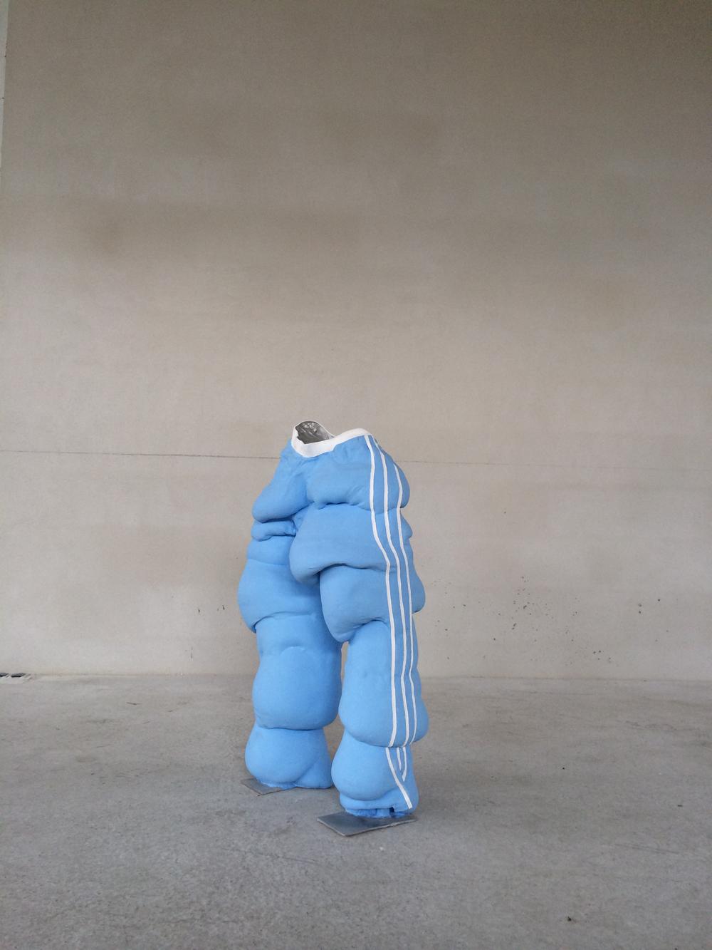 Jogging trouser, 2011 Aluminium, paint 105 x 74 x 40 cm