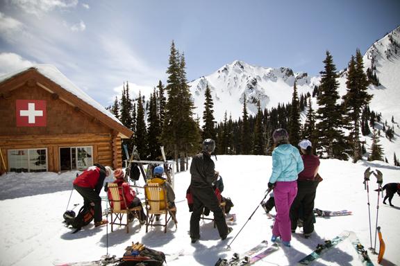 Taken on a morning skiing with Crystal Mountain ski patroller Kim Kircher this spring.