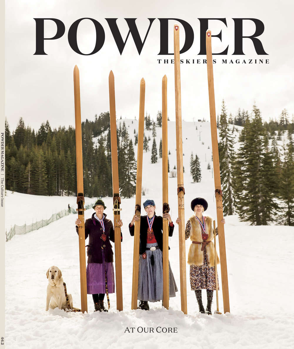 """Claire Smallwood"" - Talking to the director of She Jumps about making desserts, getting women into skiing, and having your own North Star.  Powder Magazine, October 2017"