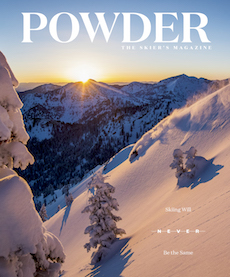 """Skier's Lunch"" - Skiers around the world eat lunch, that much we know. But what they eat and where they dine varies widely.  Powder Magazine, Nov. 2017"