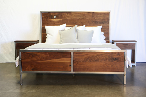 walnut bedroom set. Walnut Industrial Bedroom Set  found purpose