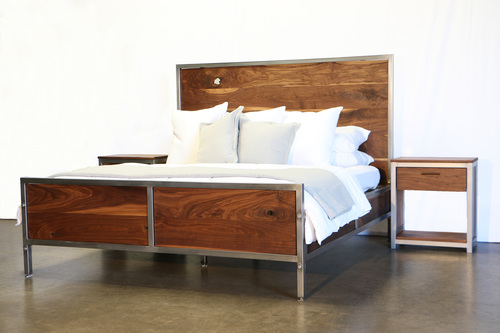 walnut bedroom set. Walnut Industrial Bedroom Set  found purpose