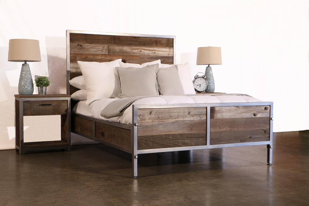 Modern Reclaimed Wood Bedroom Set