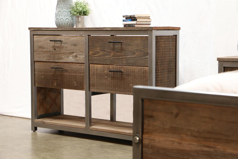 modern reclaimed wood bedroom set
