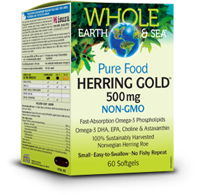 Herring Gold is offered in a 500mg or 1000mg per capsule strength  http://www.wholeearthsea.com/en-ca/our-products/herring-gold-omega-3/