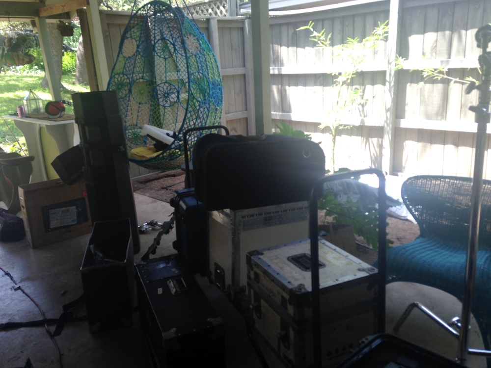 all the equipment in my carport/patio!