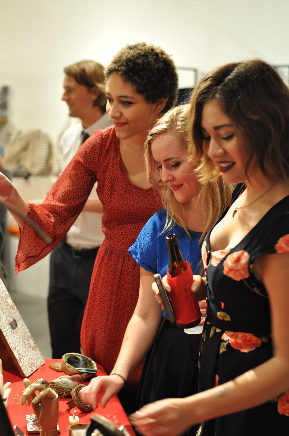 lovely ladies admiring the goods!