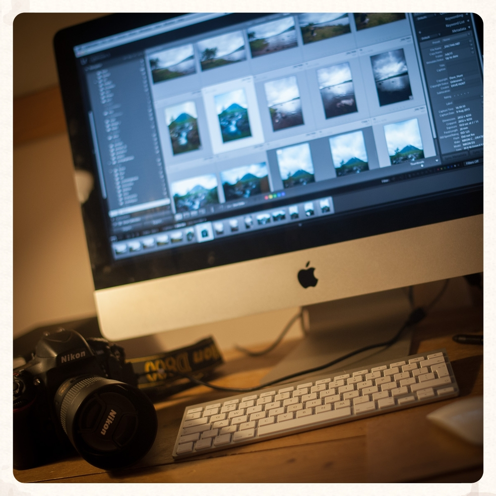 post production. once you have captured your images they will need to be fine tuned for web or print using both desktop pc's and tablet mobile devices. details