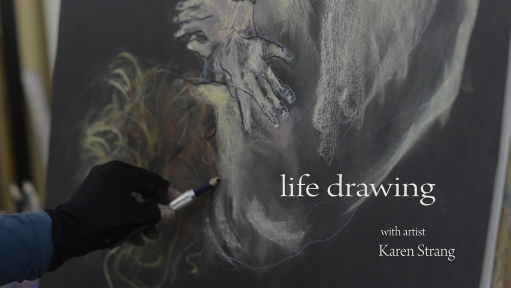 Life Drawing with Karen Strang Marcella House Artists peer led life drawing session
