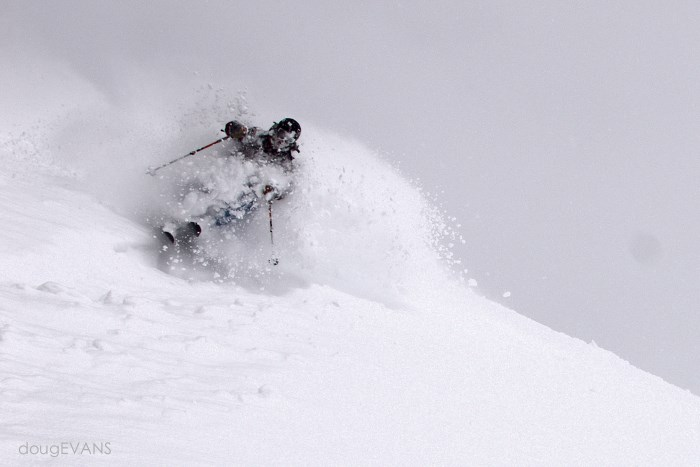 Mark loves the pow PC @dougtheskier