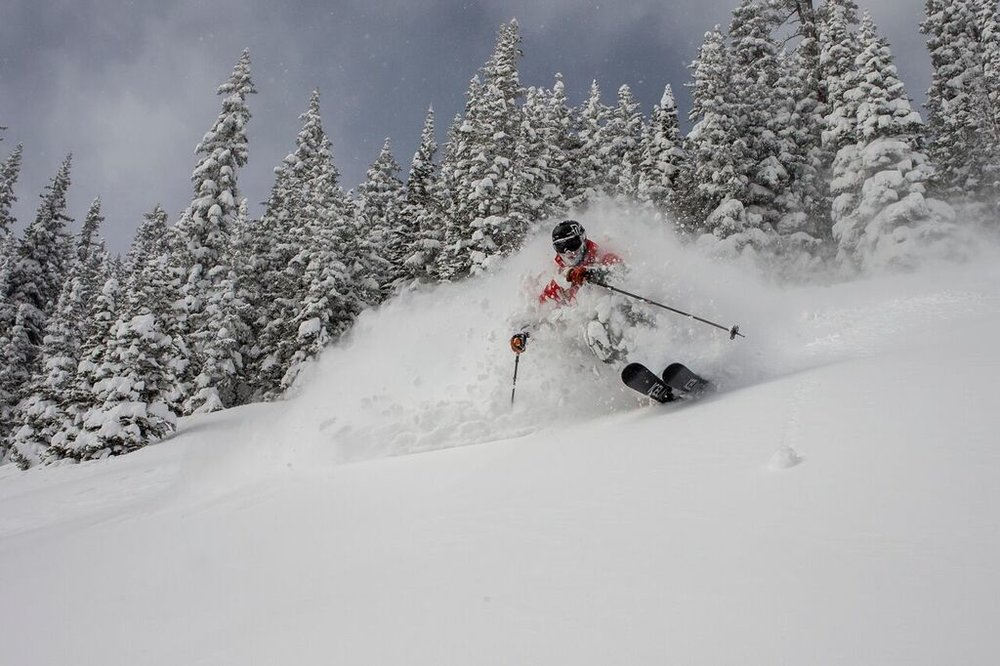 Mark enjoying the Colorado powder snow PC @jeffcricco