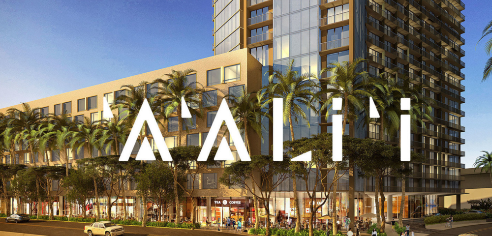 Aalii condo development project at Ward Village, Kakaako, Honolulu, Hawaii.